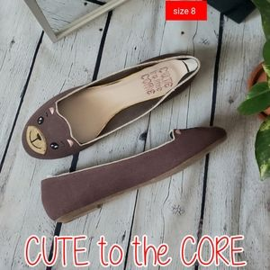 Cute To The Core Bearycute Flats size 8,10